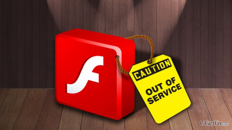 Picture of adobe flash discontinuation