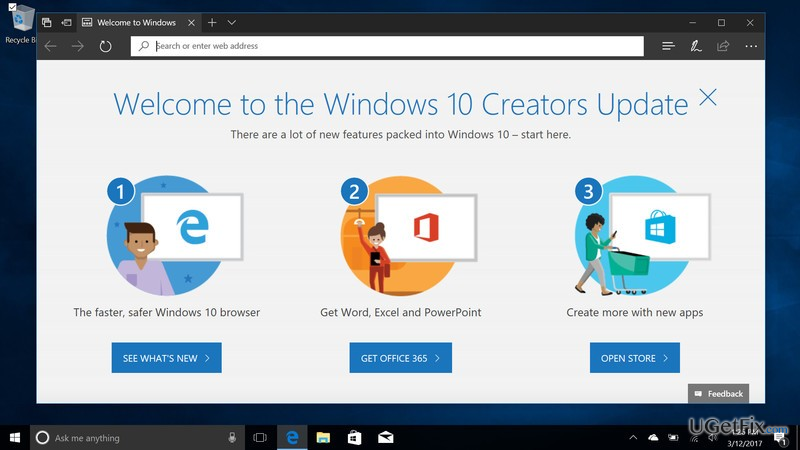optimize your PC before installing Creators Update
