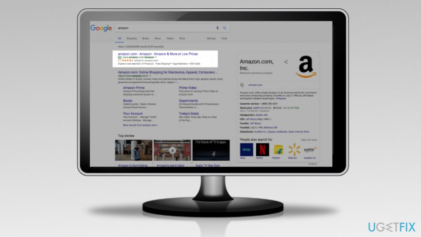 Fake Amazon ads showed up on Google search again