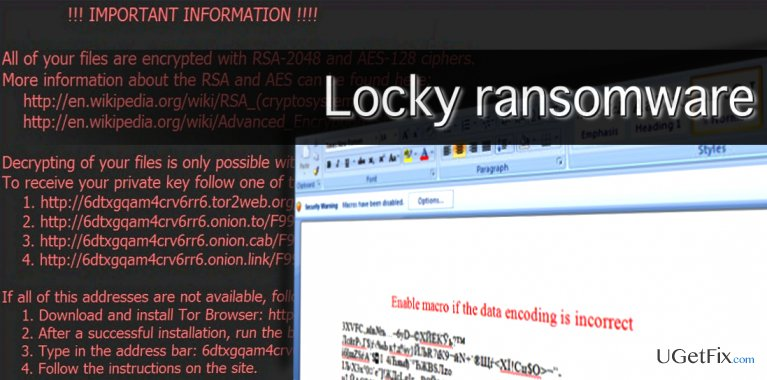 Everything you need to know about Locky virus snapshot