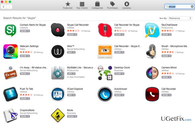 Mac App Store offers to purchase scams snapshot