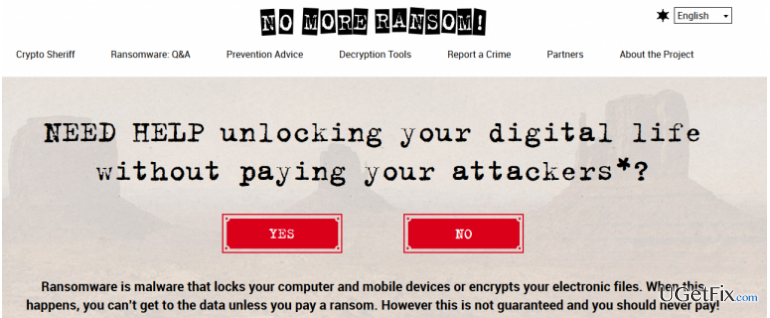 """No More Ransom"" Project Brings In a New Force to Fight Back Ransomware snapshot"