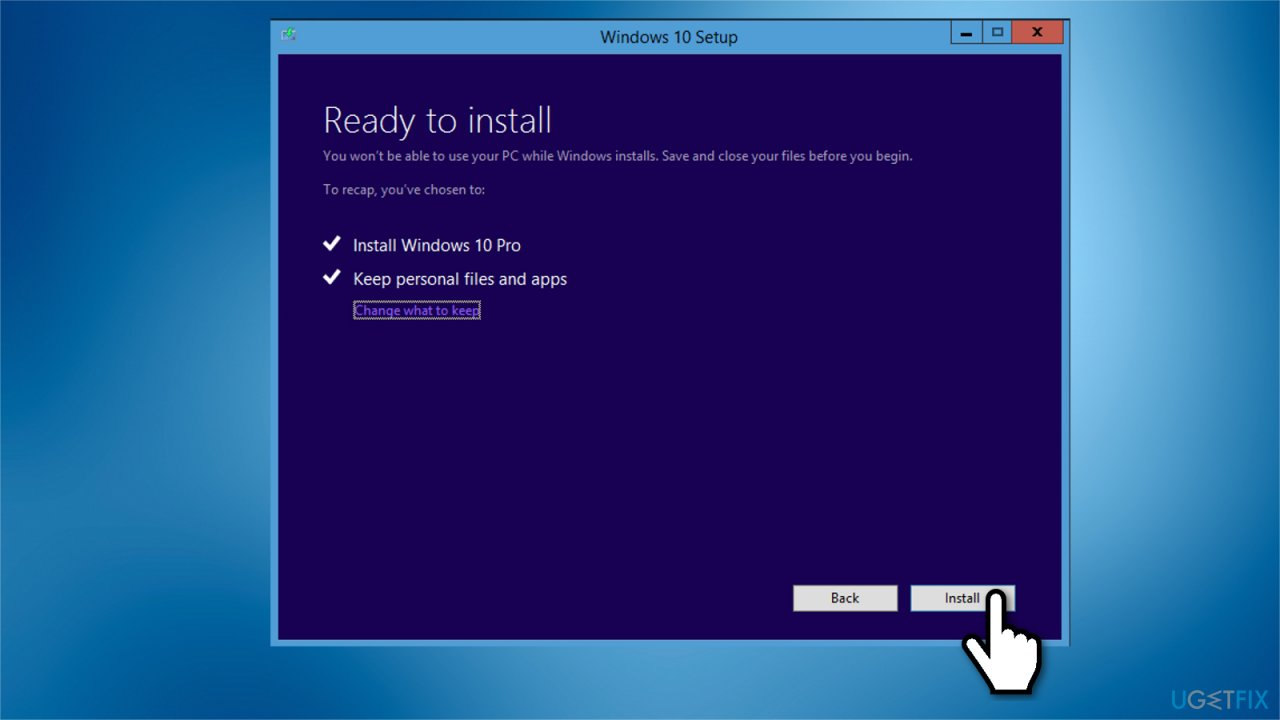 Reinstall Windows 10