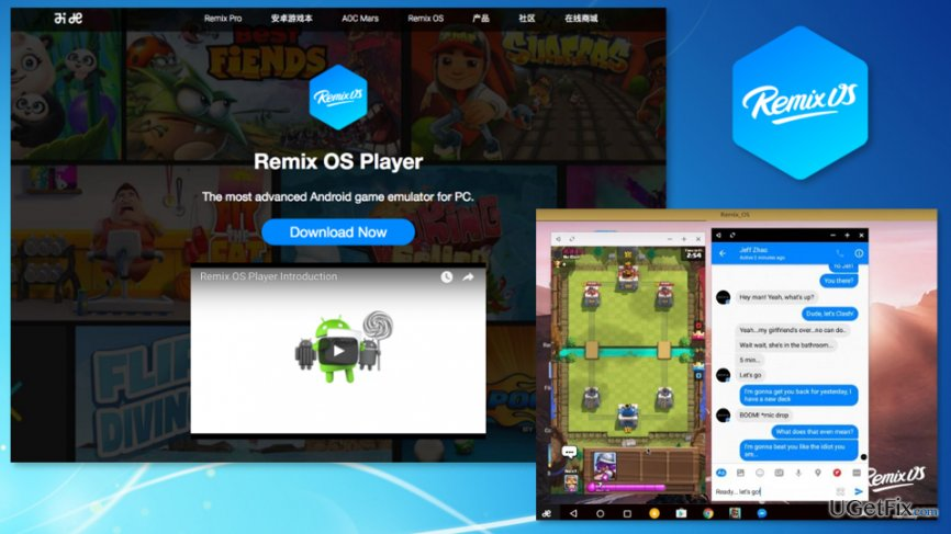 The picture of Remix OS Player