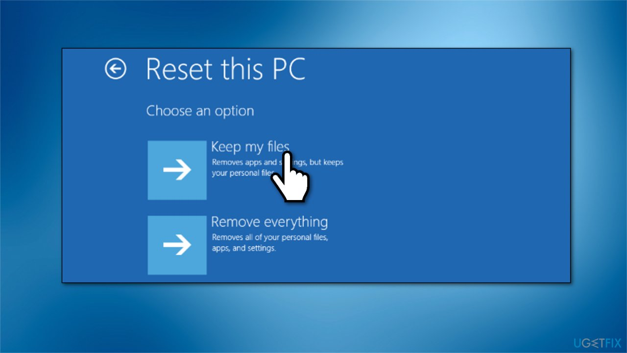 Windows 10 restore
