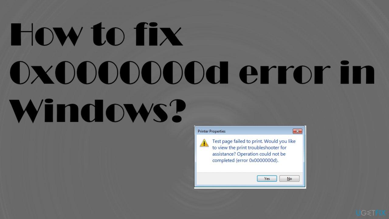 0x0000000d error in Windows