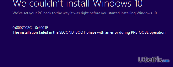 How to Fix Windows Update Error Code 0xC1900101 – 0x4001E?