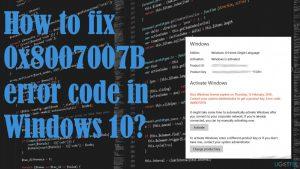 How to fix 0x8007007B error code in Windows 10?