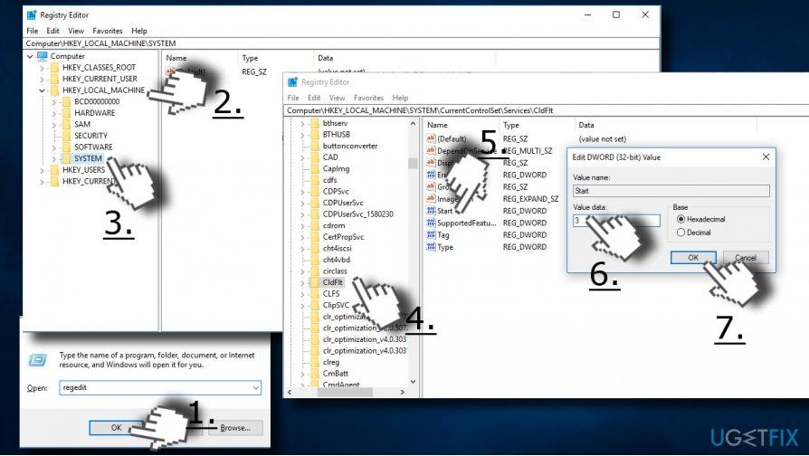 Registry tweak fixing 0x800700B7 error