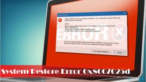 How to Fix System Restore Error Code 0x8007025d on Windows 10?