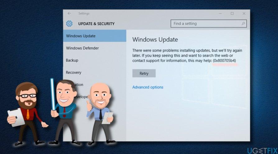 0x800705b4 error fixes on Windows 10