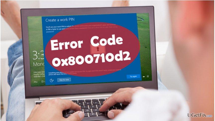 showing 0x800710d2 error