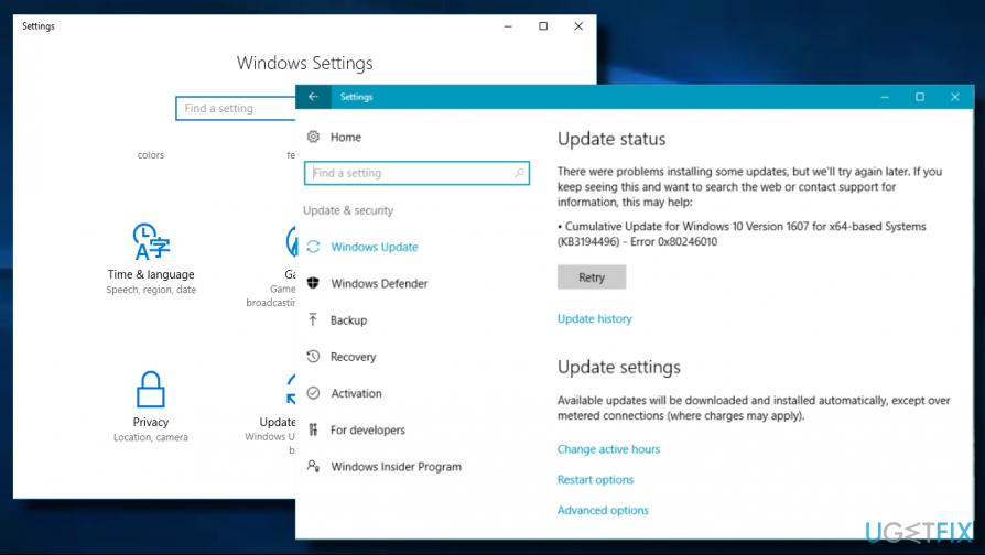 Fixing 0x80246010 error on Windows 10