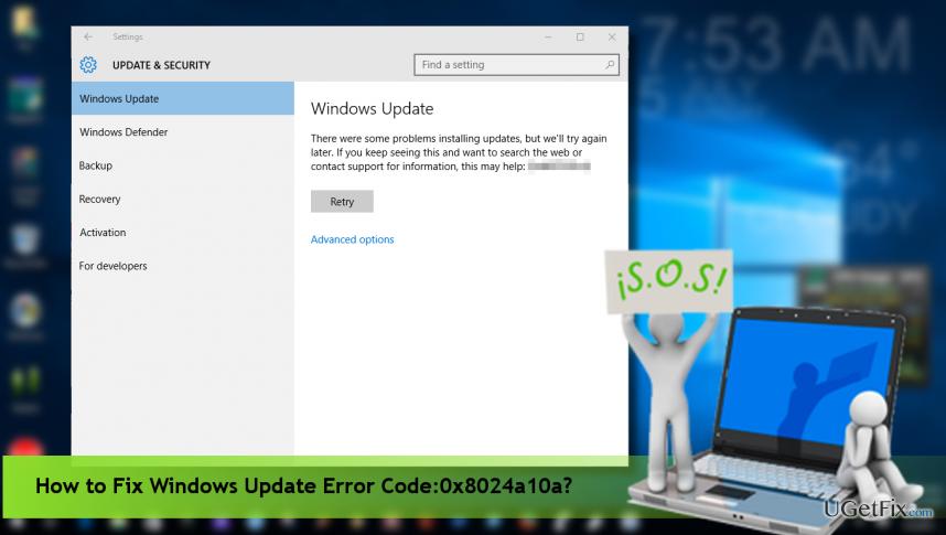 0x8024a10a error fix