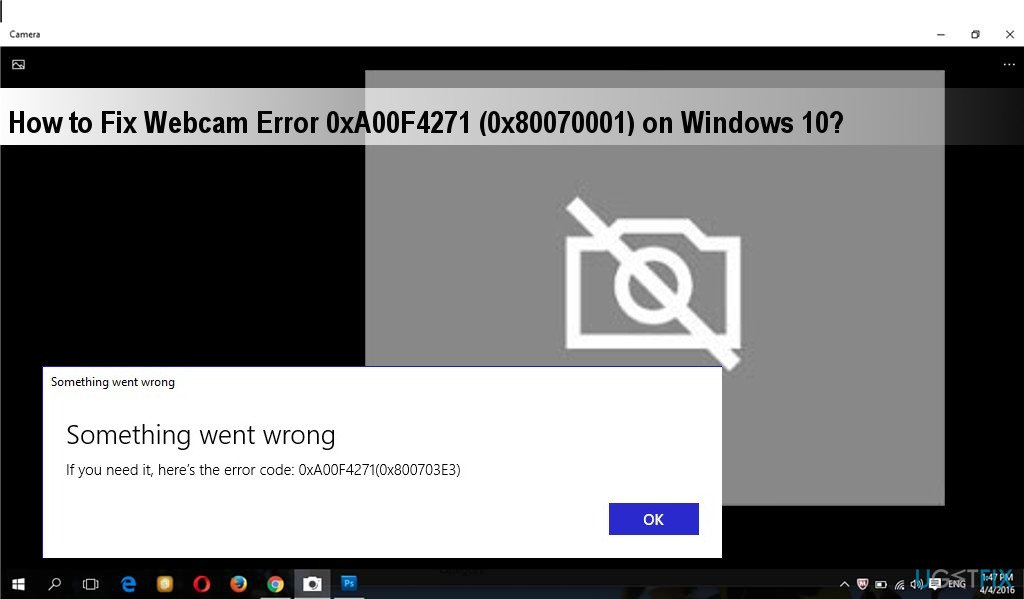 How to Fix Webcam Error Code 0xA00F4271 (0x80070001) on Windows?