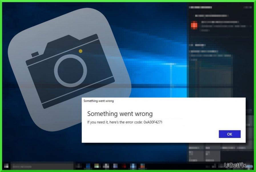 the printscreen of the 0xA00F4271(0x800705AA)  error