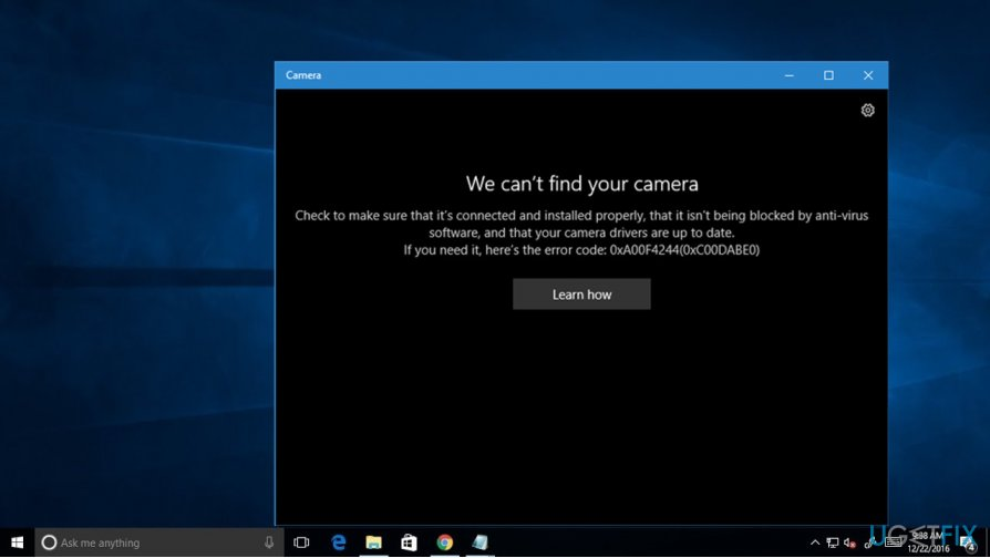 How to fix camera error 0xA0F4244 (0xC00DABE0) on Windows 10?