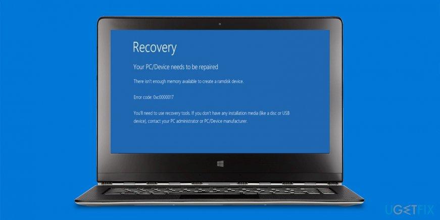 How to fix Windows 10 upgrade error 0xc0000017?
