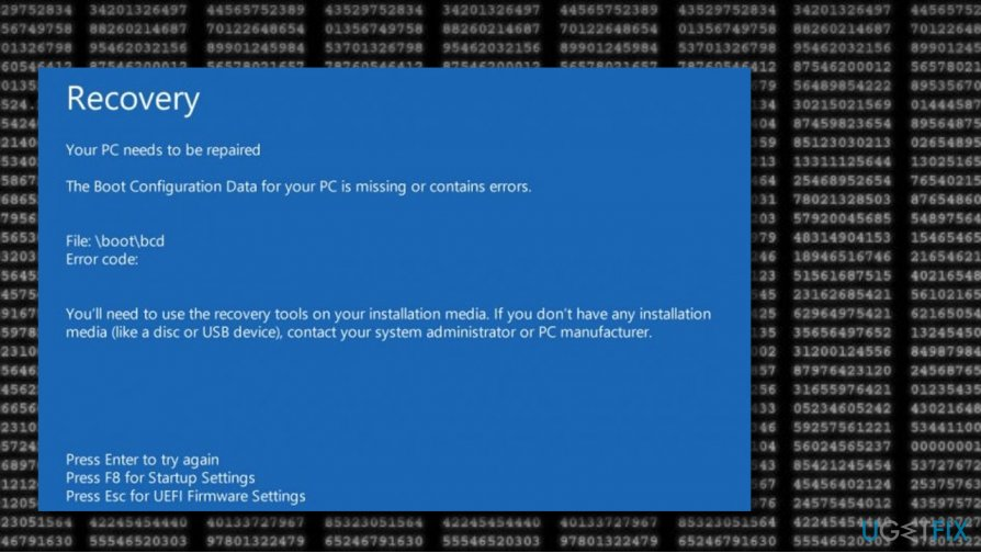 Image of 0xc000014c error code on Windows