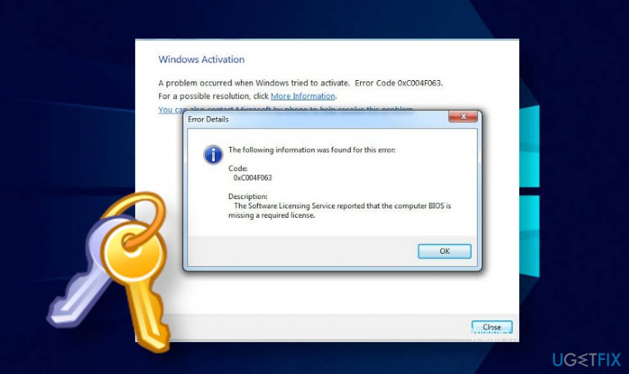 Windows activation error 0xC004F063
