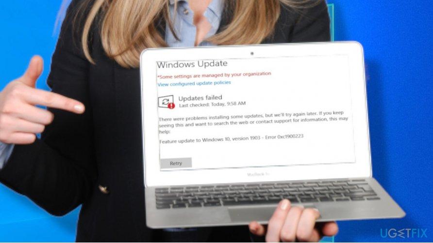 Windows update error 0xc1900223