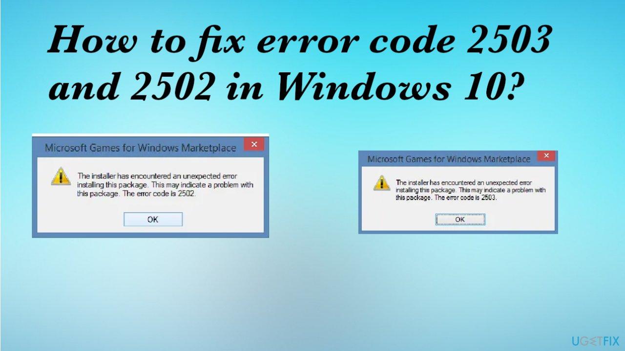 Installation/uninstallation error