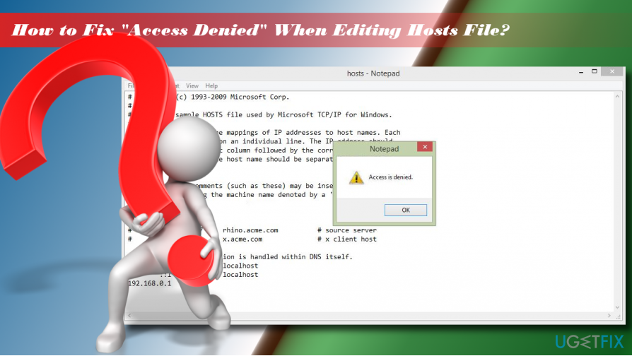 How to fix access denied when editing hosts file