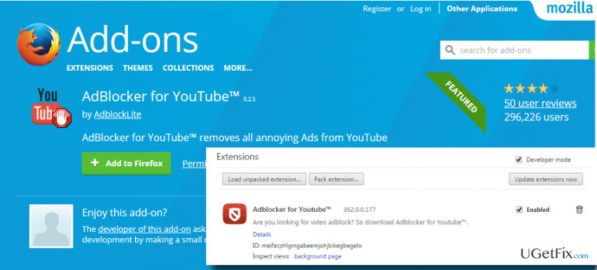 remove AdBlocker for YouTube