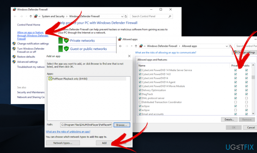 """Fix """"Windows Firewall has blocked some features"""""""