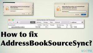 How to fix AddressBookSourceSync?