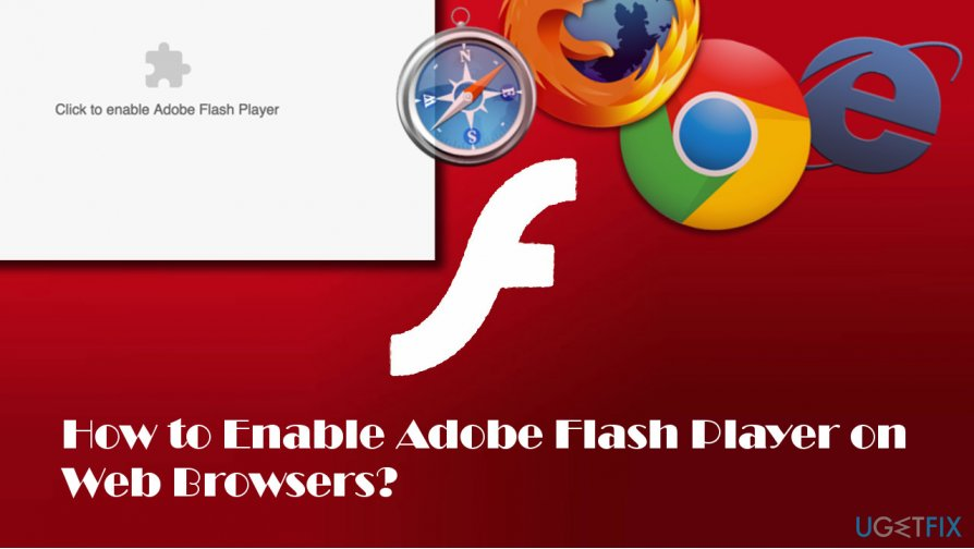illustrating Flash Player activation