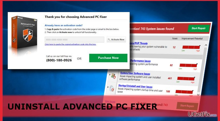 uninstall Advanced PC Fixer