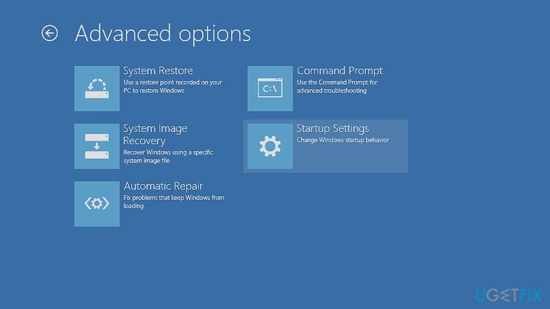Launch Command Prompt via Advanced startup settings