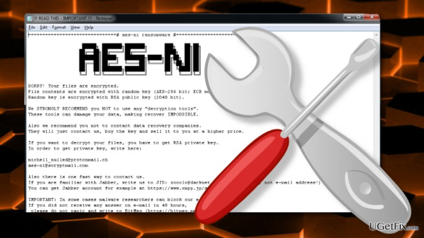 Image of the AES-NI decryption