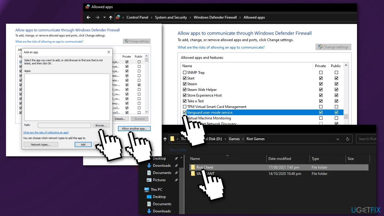 Allow apps through Windows Defender Firewall2