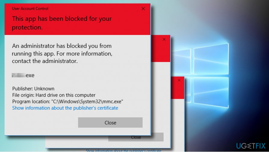 "How to fix ""An administrator has blocked you from running"