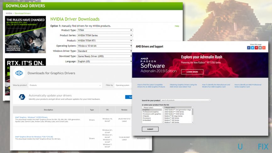 Download GPU drivers manually
