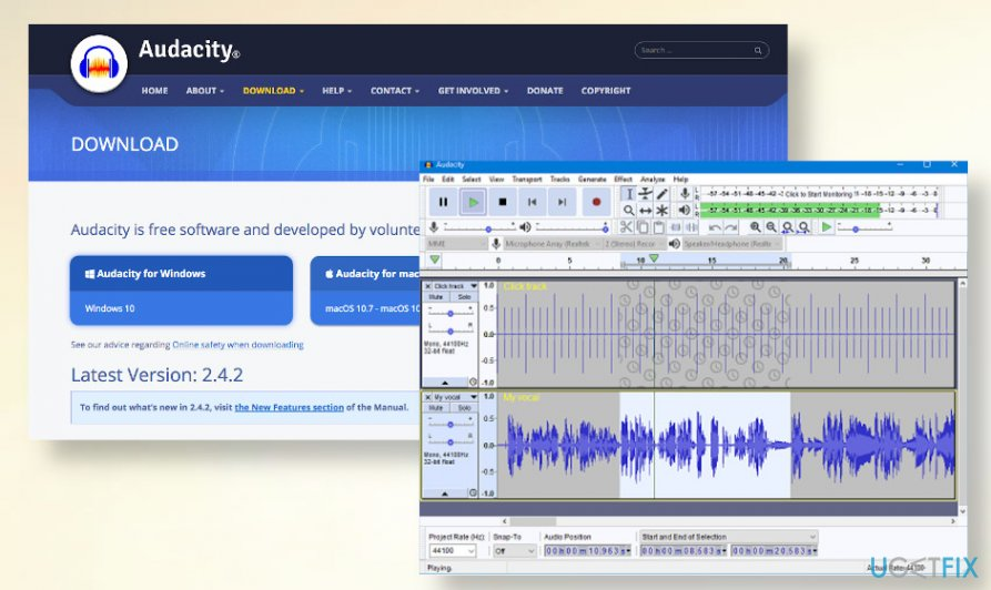 Audacity YouTube video downloader