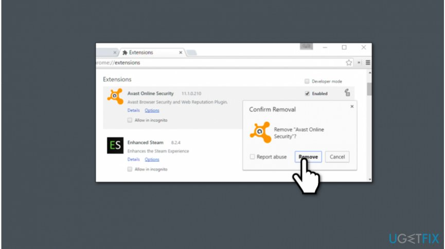 how to remove avast web browser