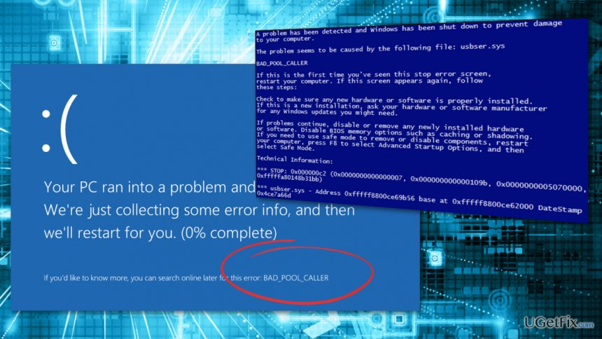 Error illustrating Bad_pool_caller error