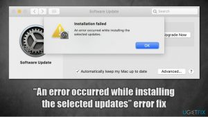 """MacOs Big Sur error """"An error occurred while installing the selected updates"""" – how to fix?"""
