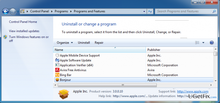 How to Uninstall Bonjour?
