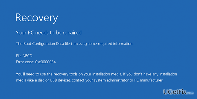 How to Fix Boot Configuration Data File is Missing Error on Windows OS?