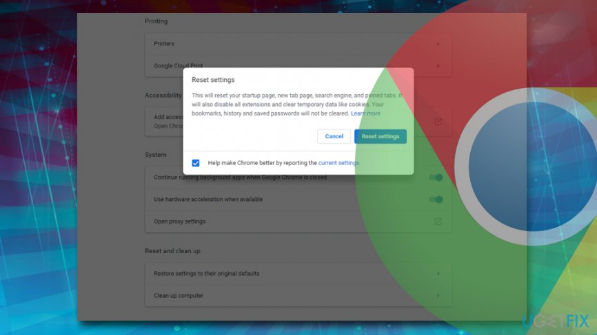 Refresh Google Chrome