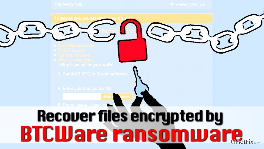 Decrypt files encrypted by BTCWare virus