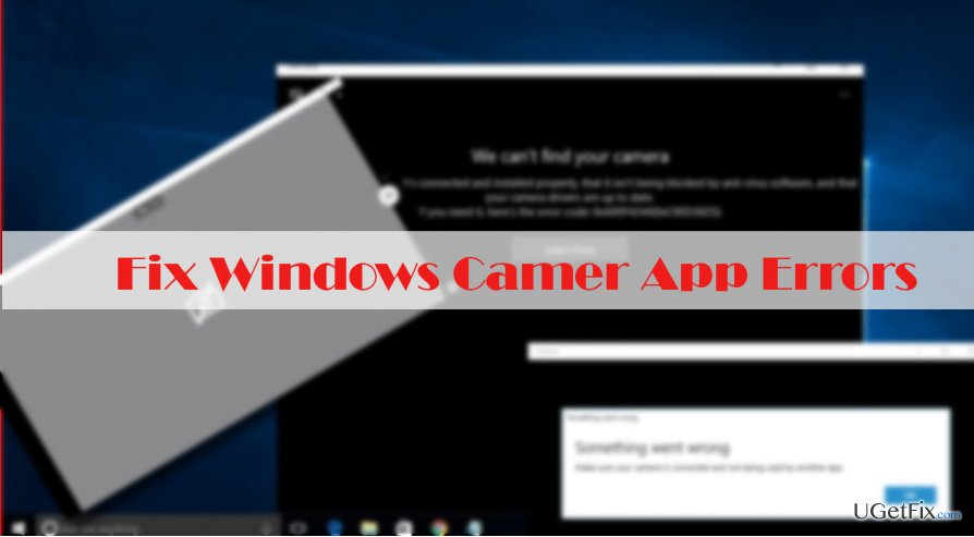 an example of Windows 10 Camera App error