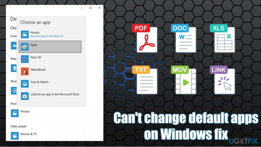 How to fix Can't change default apps on Windows