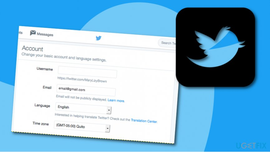 Change email address before Twitter account deactivation