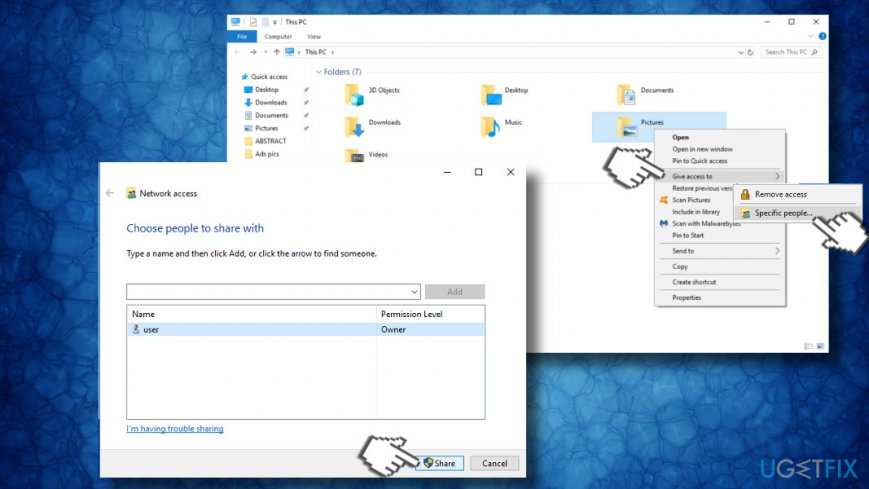 Change folder's permissions