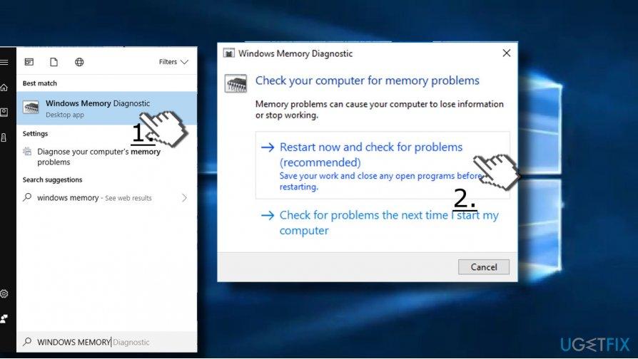 Check memory (RAM)